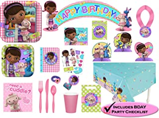 Disney Doc McStuffins Party Supplies Premium Set - Birthday Party Favors, Plates, Cups, Napkins and More!