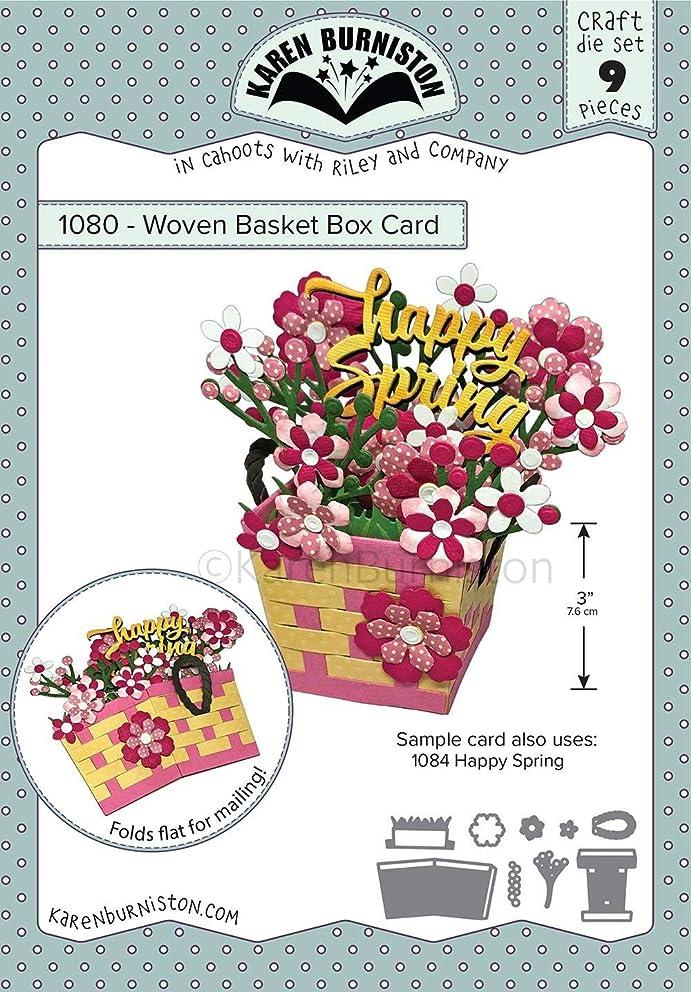 Karen Burniston Woven Basket Box Card Die