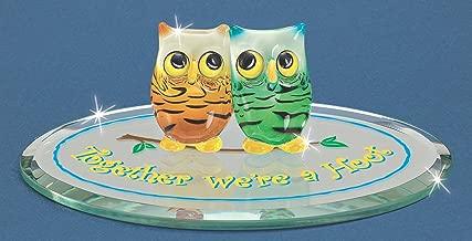 Glass Baron Owls Together We're a Hoot Figurine