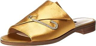 Nine West Conrone2 Slip-On Sandal For Women, 38 EU - Yellow (Yellow YLW)