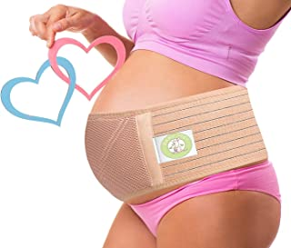 BABII JOEY Maternity Support Belt - Adjustable and Breathable Belly Band for Lower Back, Pelvic, and Abdominal Support for Women During Pregnancy - Relieves Pain and Discomfort - One Size - Nude