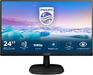 Philips 243V7QJABF 23.8-Inch IPS Full HD Monitor with Speakers - (1920 x 1080, VGA/HDMI/Displayport 1.2)