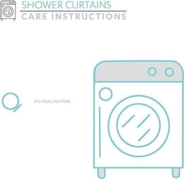 "Lush Decor Darla Ruched Floral Bathroom Shower Curtain, 72"" x 72"", White"