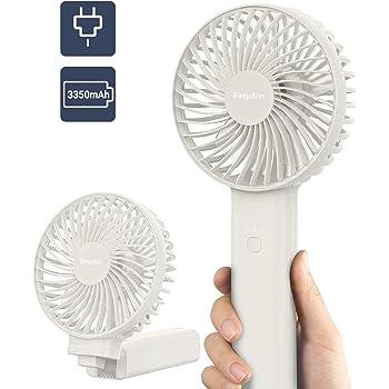 2020年NEWモデル EasyAcc 携帯扇風機 手持ち扇風機 ハンディファン 3350mAh PSE認証済 最大動作時間17h 4段階風量調節 スタンド機能 オフィス アウトドア用 スポーツ観戦 小型 熱中症 暑さ対策