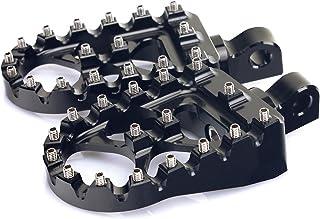TARAZON CNC Wide Fat Footpegs Foot Pegs MX Rotating Custom Chopper Bobber Style for Harley Davidson (Black)