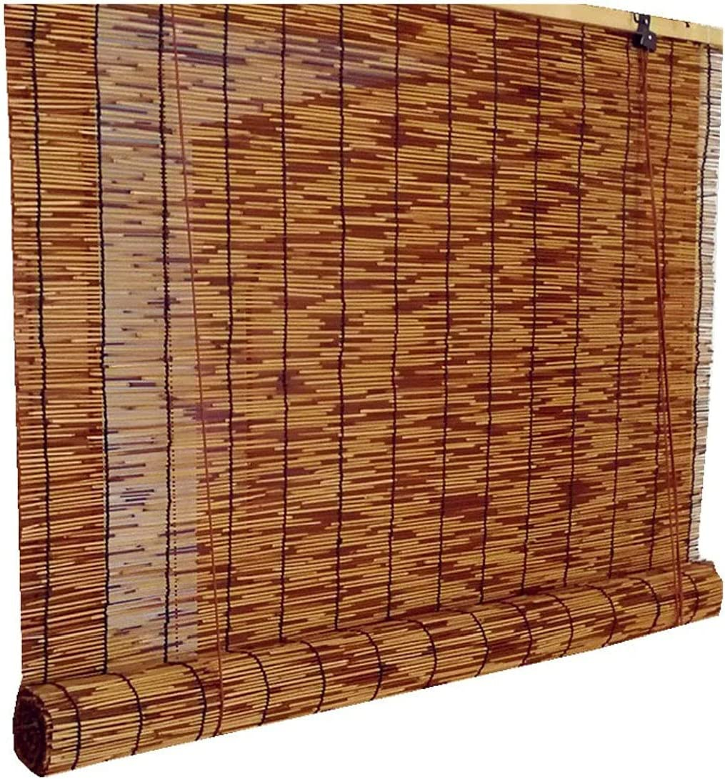 Patio shades online shop Large discharge sale roll up outdoor Roll Bamboo patio for