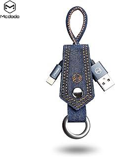 MCDODO Premium Lightning Keychain Denim Cable 15cm-2.1A-Model (CA-0740) blue