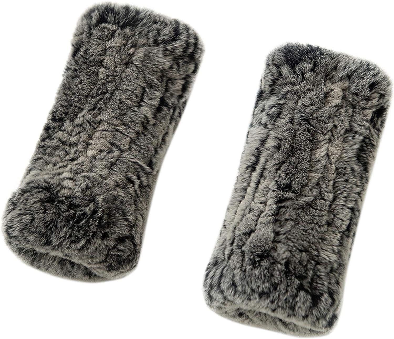 YXCFEWD Rabbit Fur Gloves Fingerless Gloves For Women Girls Fur Mittens Furry Winter Knit Fur Hand Warmer