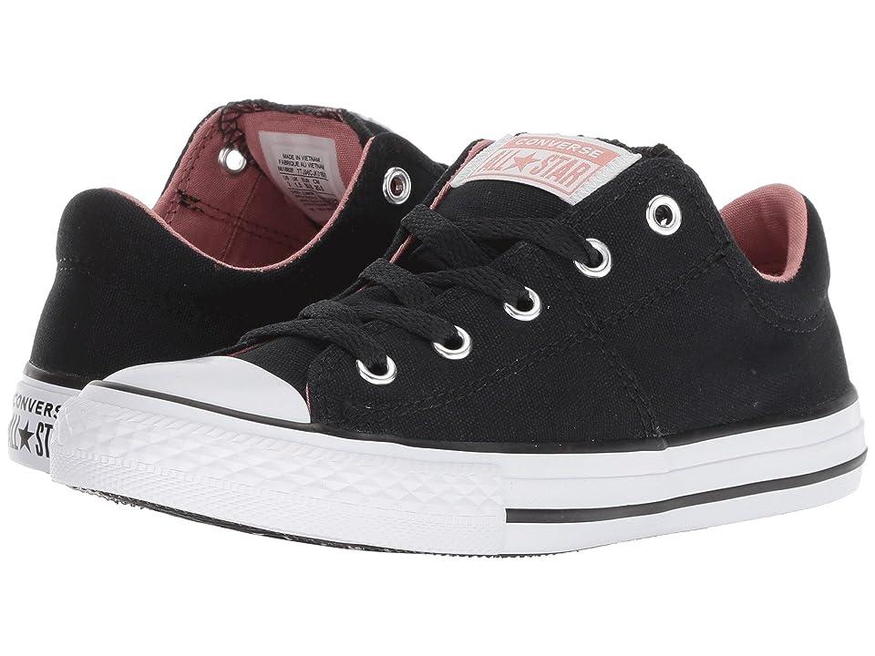 Converse Kids Chuck Taylor(r) All Star(r) Madison Ox (Little Kid/Big Kid) (Black/Rust Pink/White) Girls Shoes