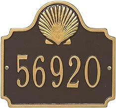 Custom 1 Line Conch Shell Aluminum Address Plaque 10.75