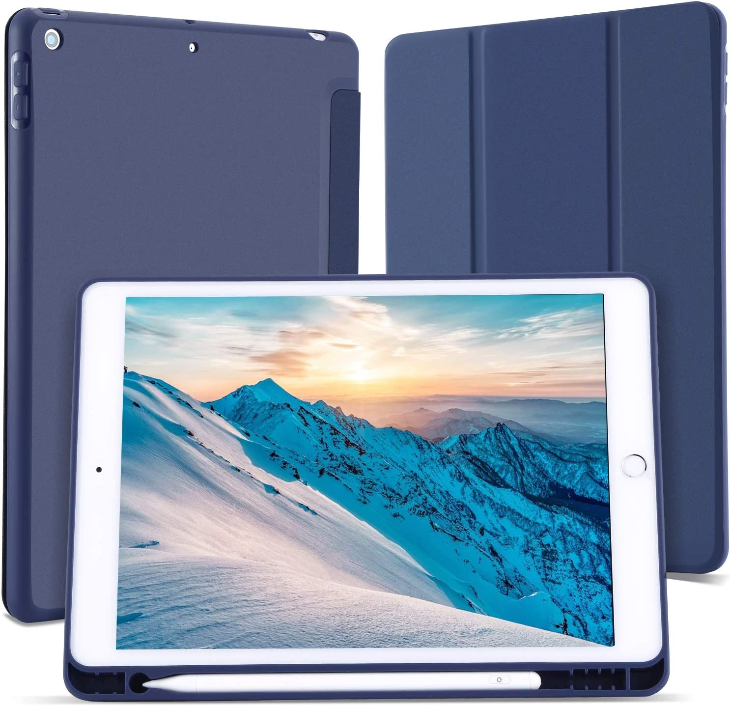 Case for iPad 10.2 New mail order Inch 2021 new with 8th Holder Gen Pencil 2020