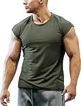 تي شيرت COOFANDY رجالي للتمارين الرياضية بأكمام قصيرة وقصة للعضلات للتدريب على كمال الأجسام