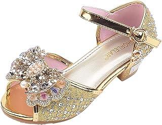 Riverdalin Kids Girls Flat Shoes Sandals Baby Girls Bowknot Bling Sequins Ballet Flats Princess Dress Sandals Shoes