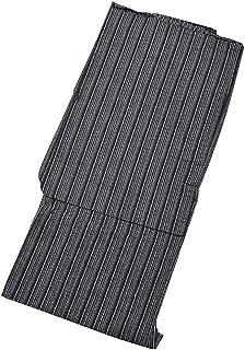 [ 京都きもの町 ] 男性 綿麻浴衣 単品 黒白縞