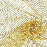Fabulous Fabrics Tüll Gold, Uni, 148cm breit – zum