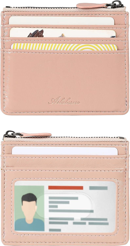 AslabCrew Slim Minimalist Front Pocket Leather Time sale RFID Blocking Zip Mesa Mall