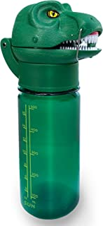RoarBottle T-Rex - Roaring Dinosaur Water Bottle for Kids | Cool Realistic TRex Roar | Spill and Leak-Proof BPA Free Tritan Waterbottle for Children