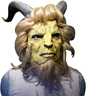 Deluxe The Beast Mask Full Face Horns Halloween Props