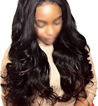 360 Lace Frontal Wig Pre Plucked With Baby Hair Lace Front Human Hair Wigs For Women,Natural Color,10inches