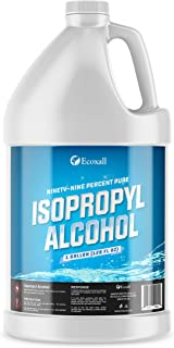 Ecoxall Chemicals - 99.9% Pure Isopropyl Alcohol - 1 Gallon Jug - 128 Fluid Ounces - Concentrated Rubbing Alcohol