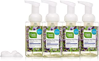 CleanWell Foaming Hand Soap, Lavender, 9.5 fl oz (4 PK) - Paraben Free, Alcohol Free, Plant-Based, Cruelty Free, Nontoxic, Kid Friendly, Pump Bottle