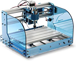 Genmitsu CNC Router Machine 3018-PROVer Mach3 with Mach3 Control, Limit Switches & Emergency-Stop, Plastic Acrylic PCB PVC Wood Carving Milling Engraving Machine,XYZ Working Area 300 x 180 x 45mm