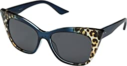 BSG1048 - Extreme Cateye Sunglasses with Leopard Gradient