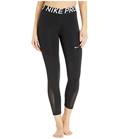 Nike Pro 7/8 Crop Tights (Black/White) Women