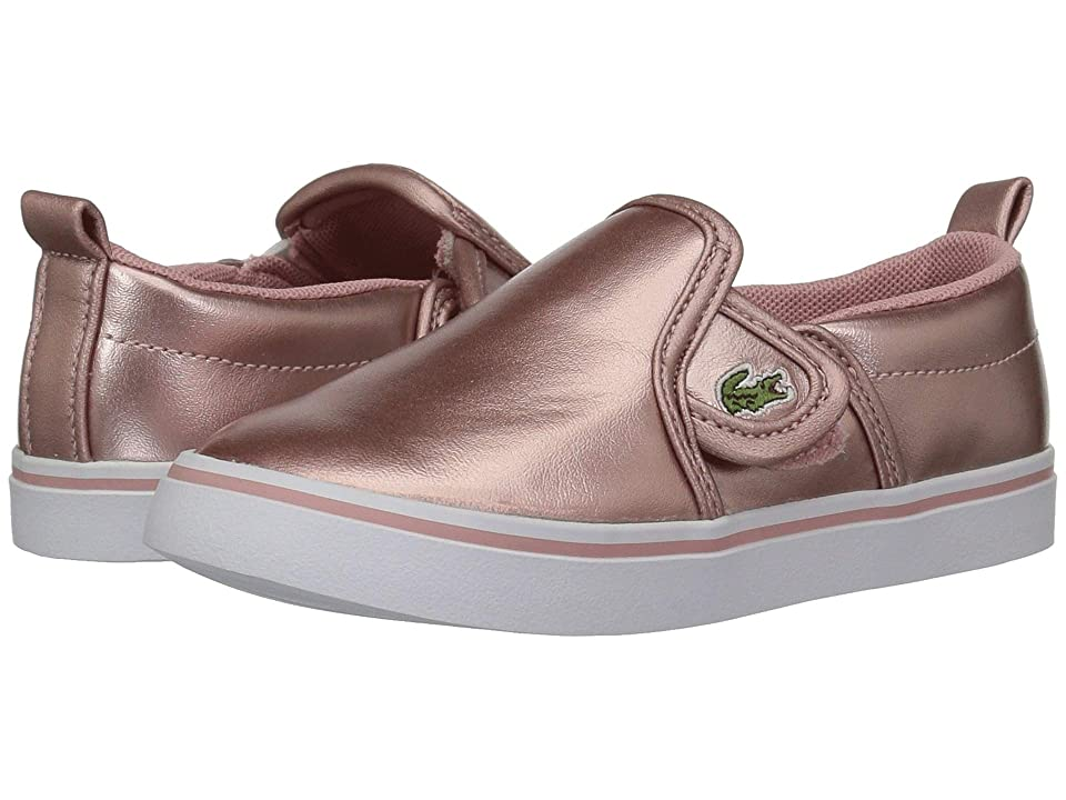Lacoste Kids Gazon 318 (Toddler/Little Kid) (Pink/White) Girl
