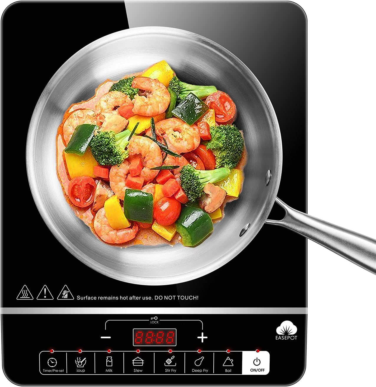 Induction Cooktop Easepot Portable C Time Max 55% OFF sale Cooker Countertop