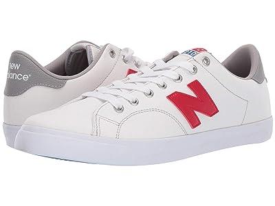 New Balance Numeric AM210 (White/Red Canvas) Men