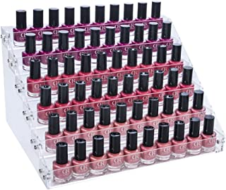 Gospire 66 Bottles of 6 Tier Acrylic Nail Polish Ink Rack Display Rack Stand Holder Jewelry Makeup Organizer