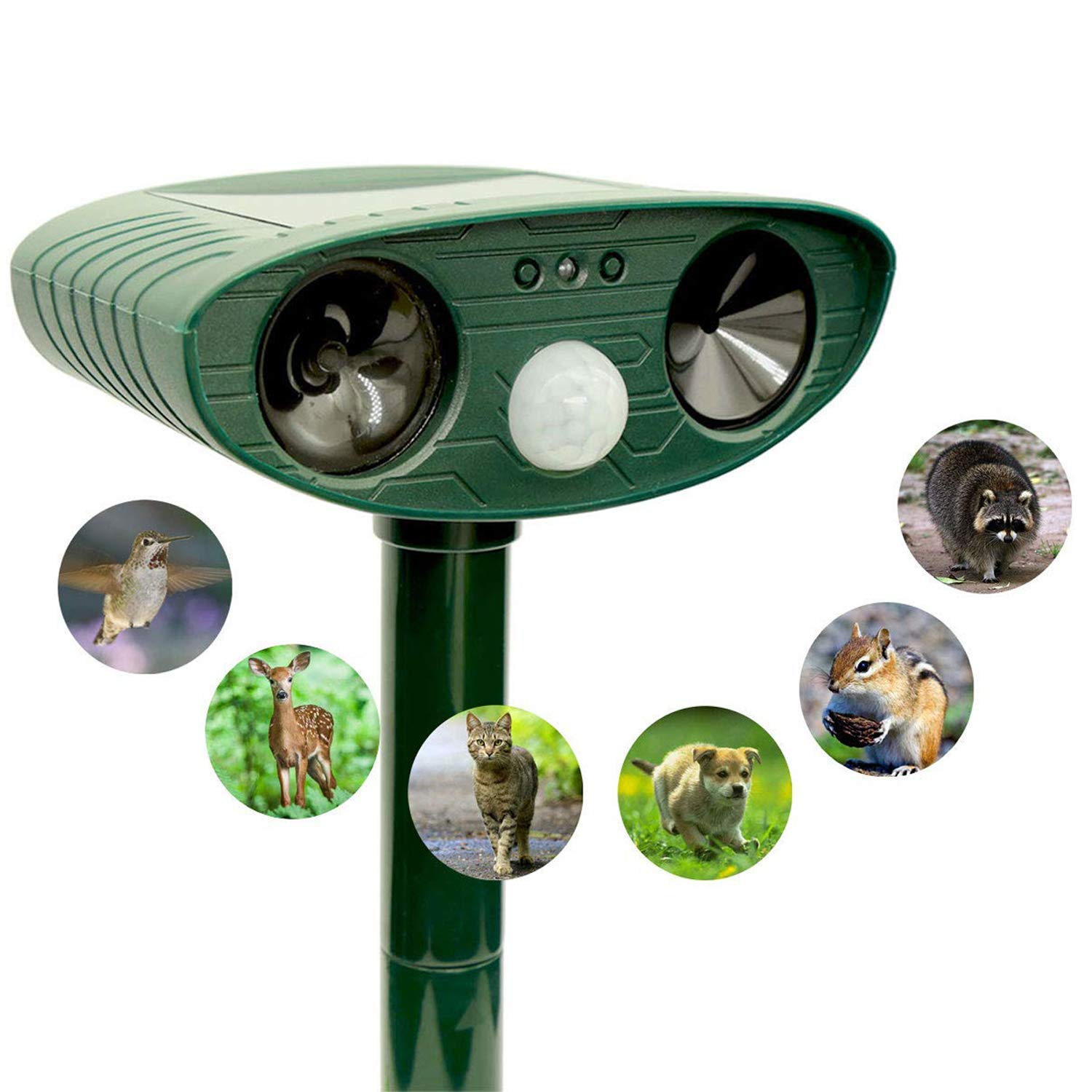 ZOVENCHI Ultrasonic Repeller Outdoor Powered