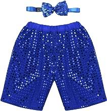 inlzdz Kids Little Boys Girls Sequins Vest Pants with Bow Hip Hop Jazz Latin Street Dance Performing Costume