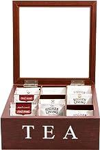 Cooper & Co. Homewares 9 Compartment Wood Tea Box, Brown