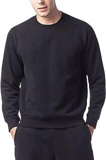 LAPASA Men's Hoodie Sweatshirt Pullover Fleece Lining Sportswear Plain Hooded Jacket Zip up Hoody w Drawstring M20/M21