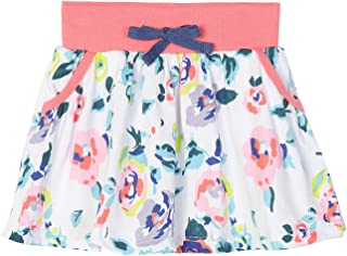 Girls Summer Cotton Skirts Casual Floral Toddle Girls Skater Skirts