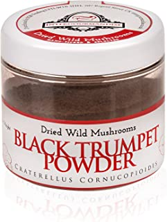 Black Trumpets mushroom powder | 80 gr / 2.8 Oz Vegan, Vegetarian, Kosher & Gluten Free | InterGourmandise | The finest European Quality