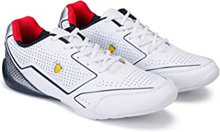 Zenwear Men's Dotted Lace-Up White Sports Shoes