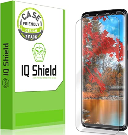 [2-Pack] IQ Shield LiQuidSkin Clear [Case Friendly] Screen Protector for Galaxy S9 Bubble Free Film