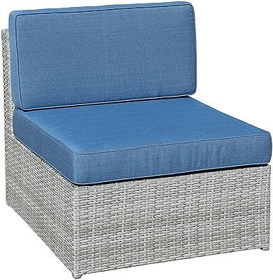 Amazon.com : Yescom Outdoor PE Rattan Wicker Armless Sofa ...