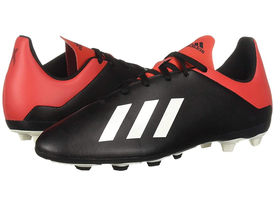 adidas Kids X 18.4 FxG Soccer (Little Kid/Big Kid) (Black/Off-White/Active Red) Kids Shoes