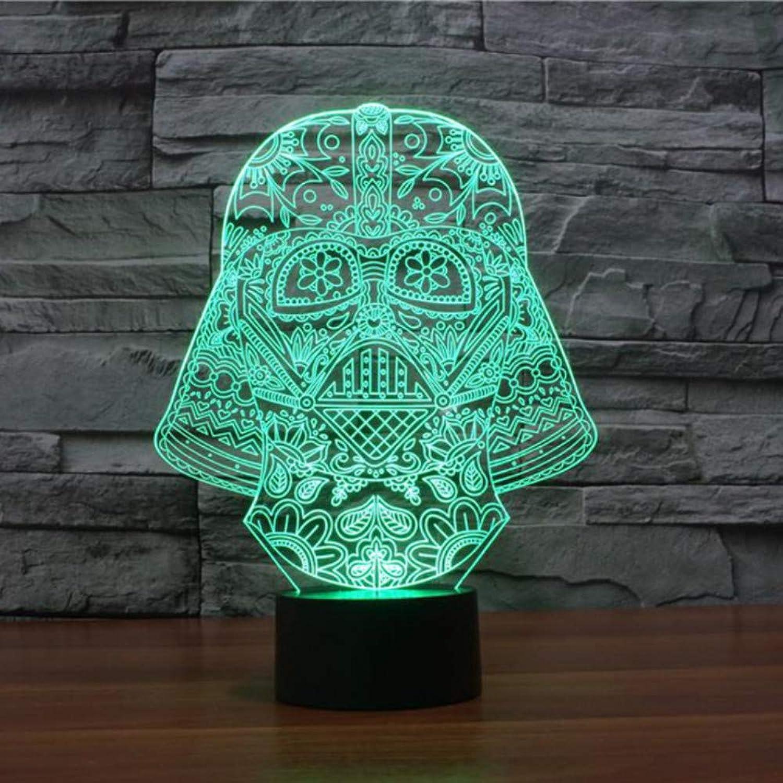 Zonxn Unique 3D Led USB Knight Headlight 7 color Change Night Light As Bedroom Art Deco Touch Sensor Light