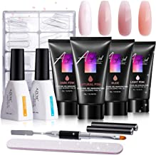 AZUREBEAUTY Poly Nail Gel Kit - 30ml/4pcs Gel Poly Nail Enhancement Builder Gel Nail Extension Poly Nail Gel Trial Kit for Starter and Professional Nail Technician All-in-One Kit