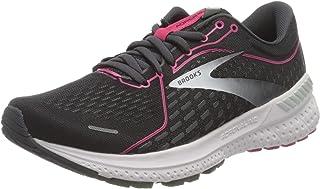 Brooks Women's Adrenaline GTS 21 Running Shoe, Black/Raspberry Sorbet/Ebony