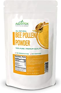 ALOVITOX Bee Pollen Powder | 100% Pure, Natural Raw Bee Pollen - Gluten Free, Non GMO | 16 oz