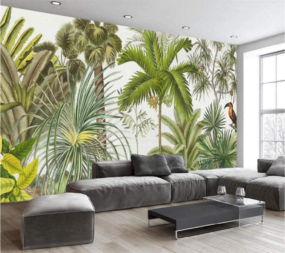 online shop Custom 3D Wallpaper Hand Drawn Tropical Murals Rainforest Complete Free Shipping Living