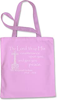 Tote Bag Rest in Peace Reverend Graham Pink Shopping Bag
