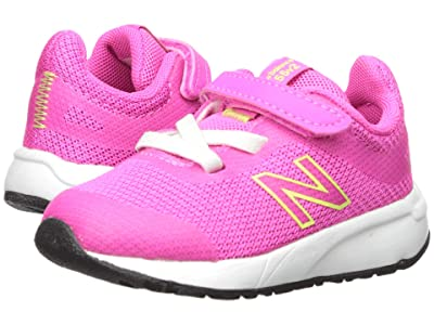 New Balance Kids 455v2 (Infant/Toddler) (Peony/Bleached Lime Glo) Girls Shoes