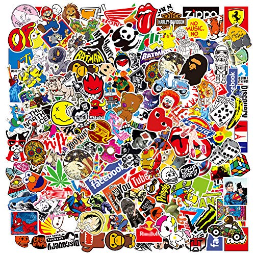 Cool Brand Stickers Pack,Laptop Stickers Bomb Vinyl Waterproof Stickers Variety Pack for Luggage Computer Skateboard Car Motorcycle Decal for Teens Adults(200 PCS)